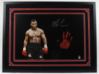 Mike Tyson Signed 34x42 Custom Framed Photo Display with Handprint (JSA LOA & Fiterman Sports Hologram) at PristineAuction.com