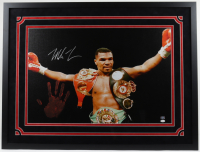 Mike Tyson Signed 32x42 Custom Framed Photo Display with Authentic Hand Print (JSA Hologram & Fiterman Hologram) at PristineAuction.com
