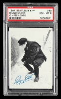 Ringo Starr 1964 Beatles B&W O-Pee-Chee #80 (PSA 8) at PristineAuction.com