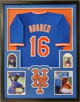Dwight Gooden Signed 34x42 Custom Framed Jersey (JSA COA) at PristineAuction.com