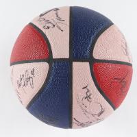 LE 2001 NBA All-Star Allen Iverson Logo Basketball Signed by (26) with Allen Iverson, Kobe Bryant, Vince Carter, Jason Kidd (JSA LOA) (See Description) at PristineAuction.com
