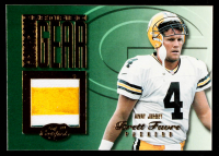 Brett Favre 1999 Leaf Certified Gridiron Gear #BF4A White #25/300 at PristineAuction.com