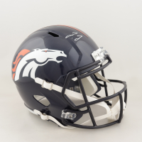 Jerry Jeudy Signed Broncos Full-Size Speed Helmet (JSA COA) at PristineAuction.com