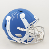 Peyton Manning Signed Colts Full-Size AMP Alternate Speed Helmet (Fanatics Hologram) (See Description) at PristineAuction.com