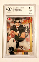 Brett Favre 1991 Action Packed Rookie Update #21 RC (BCCG 10) at PristineAuction.com