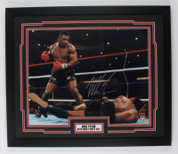 Mike Tyson Signed 22x26 Custom Framed Photo Display (Fiterman Sports Hologram) at PristineAuction.com