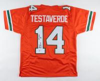 "Vinny Testaverde Signed Jersey Inscribed ""Heisman 86"" (Beckett COA) (See Description) at PristineAuction.com"