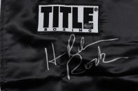 "Hasim Rahman Signed Title Boxing Robe Inscribed ""Rock"" (Schwartz COA) at PristineAuction.com"