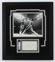 Joe Frazier Signed 17x19 Custom Framed Cut Display (PSA Encapsulated) at PristineAuction.com