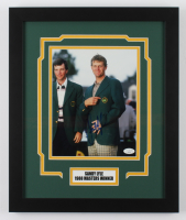 Sandy Lyle Signed Masters 15x18 Custom Framed Photo Display (JSA COA) at PristineAuction.com