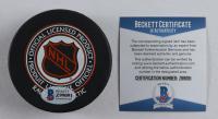 Jaromir Jagr Signed Penguins Logo Hockey Puck (Beckett COA) at PristineAuction.com