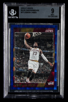 LeBron James 2016-17 Hoops Blue Checkerboard #17 (BGS 9) at PristineAuction.com