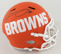 Jarvis Landry Signed Browns Full-Size AMP Alternate Speed Helmet (JSA COA) at PristineAuction.com