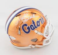 "Dan Mullen Signed Florida Gators Chrome Alternate Speed Mini Helmet Inscribed ""Go Gators!"" (JSA COA) at PristineAuction.com"