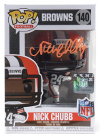 Nick Chubb Signed Browns #140 Funko Pop! Vinyl Figure (Beckett COA) at PristineAuction.com