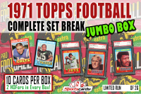 """1971 TOPPS FOOTBALL COMPLETE SET BREAK"" MYSTERY BOX– 10 CARDS PER BOX at PristineAuction.com"