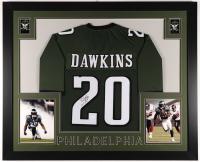 Brian Dawkins Signed 35x43 Custom Framed Jersey (JSA COA) at PristineAuction.com