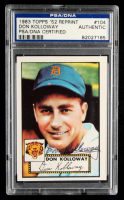 Don Kolloway Signed 1983 Topps 1952 Reprint #104 (PSA Encapsulated) at PristineAuction.com