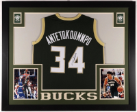 Giannis Antetokounmpo Signed 35x43 Custom Framed Jersey (JSA COA) (See Description) at PristineAuction.com