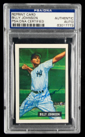 Billy Johnson Signed 1986 Card Collectors Company '51 Bowman Reprints #74 (PSA Encapsulated) at PristineAuction.com