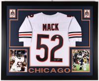 Khalil Mack Signed 35x43 Custom Framed Jersey (JSA COA) at PristineAuction.com