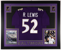 Ray Lewis Signed 35x43 Custom Framed Jersey (Beckett COA) at PristineAuction.com