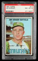 Jim Gosger 1967 Topps #17 (PSA 8) at PristineAuction.com