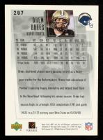 Drew Brees 2001 Upper Deck MVP #287 RC at PristineAuction.com