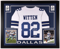 Jason Witten Signed 35x43 Custom Framed Jersey (Beckett COA & Witten Hologram) (See Description) at PristineAuction.com