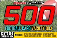 """FOOTBALL 500 VARIETY MYSTERY BOX"" 325 to 500 CARDS PER BOX! at PristineAuction.com"
