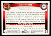 Chris Pettit 2011 Topps Chrome Purple Refractors #204 #384/499 at PristineAuction.com