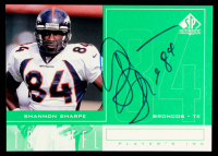 Shannon Sharpe 1998 SP Authentic Player's Ink Green #SS at PristineAuction.com