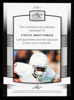 Fozzy Whittaker 2012 Leaf Draft Autographs Blue #FW1 at PristineAuction.com