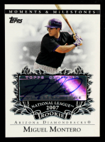 Miguel Montero 2007 Topps Moments and Milestones Rookie Autographs #MM at PristineAuction.com