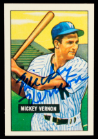 Mickey Vernon Signed 1986 Card Collectors Company '51 Bowman Reprints #65 (PSA COA) at PristineAuction.com