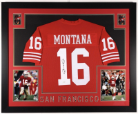 Joe Montana Signed 35x43 Custom Framed Jersey (JSA COA) at PristineAuction.com