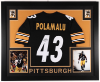 Troy Polamalu Signed 35x43 Custom Framed Jersey (Beckett COA) at PristineAuction.com