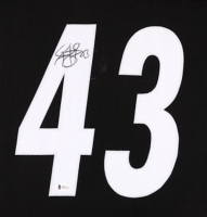Troy Polamalu Signed 35x43 Custom Framed Jersey (Beckett COA) at PristineAuction.com
