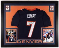John Elway Signed 35x43 Custom Framed Jersey Display (Beckett COA) at PristineAuction.com