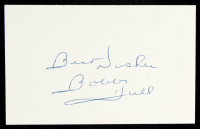 "Bobby Hull Signed 3x5 Cut Inscribed ""Best Wishes"" (PSA COA) at PristineAuction.com"
