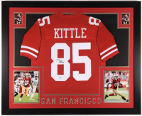 George Kittle Signed 35x43 Custom Framed Jersey (Beckett COA) at PristineAuction.com