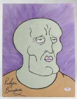 "Rodger Bumpass Signed ""Spongebob Squarepants"" Squidward Tentacles 11x15 Painting On Canvas (PSA COA) at PristineAuction.com"