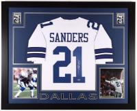 Deion Sanders Signed 35x43 Custom Framed Jersey (Beckett COA) at PristineAuction.com