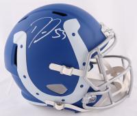 Darius Leonard Signed Colts Full-Size AMP Alternate Speed Helmet (Beckett COA) at PristineAuction.com