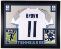 A. J. Brown Signed 35x43 Custom Framed Jersey (Beckett COA) (See Description) at PristineAuction.com