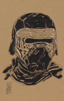 "Tom Hodges - Kylo Ren - ""Star Wars"" - Signed ORIGINAL 5.5"" x 8.5"" Drawing on Paper (1/1) at PristineAuction.com"