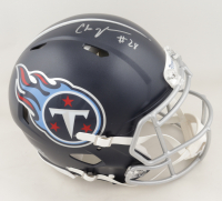 Chris Johnson Signed Titans Full-Size Authentic On-Field Speed Helmet (Beckett COA) at PristineAuction.com