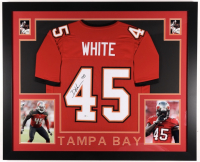 Devin White Signed 35x43 Custom Framed Jersey (Beckett COA) at PristineAuction.com