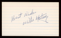 """Willie Montanez Signed 3x5 Cut Inscribed """"Best Wishes"""" (JSA Hologram) at PristineAuction.com"""