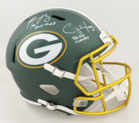 "Aaron Rodgers & Clay Matthews III Signed Packers Full-Size Blaze Alternate Speed Helmet Inscribed ""XLV MVP"" & ""SB XLV Champs"" (Stiener COA & Fanatics Hologram) at PristineAuction.com"
